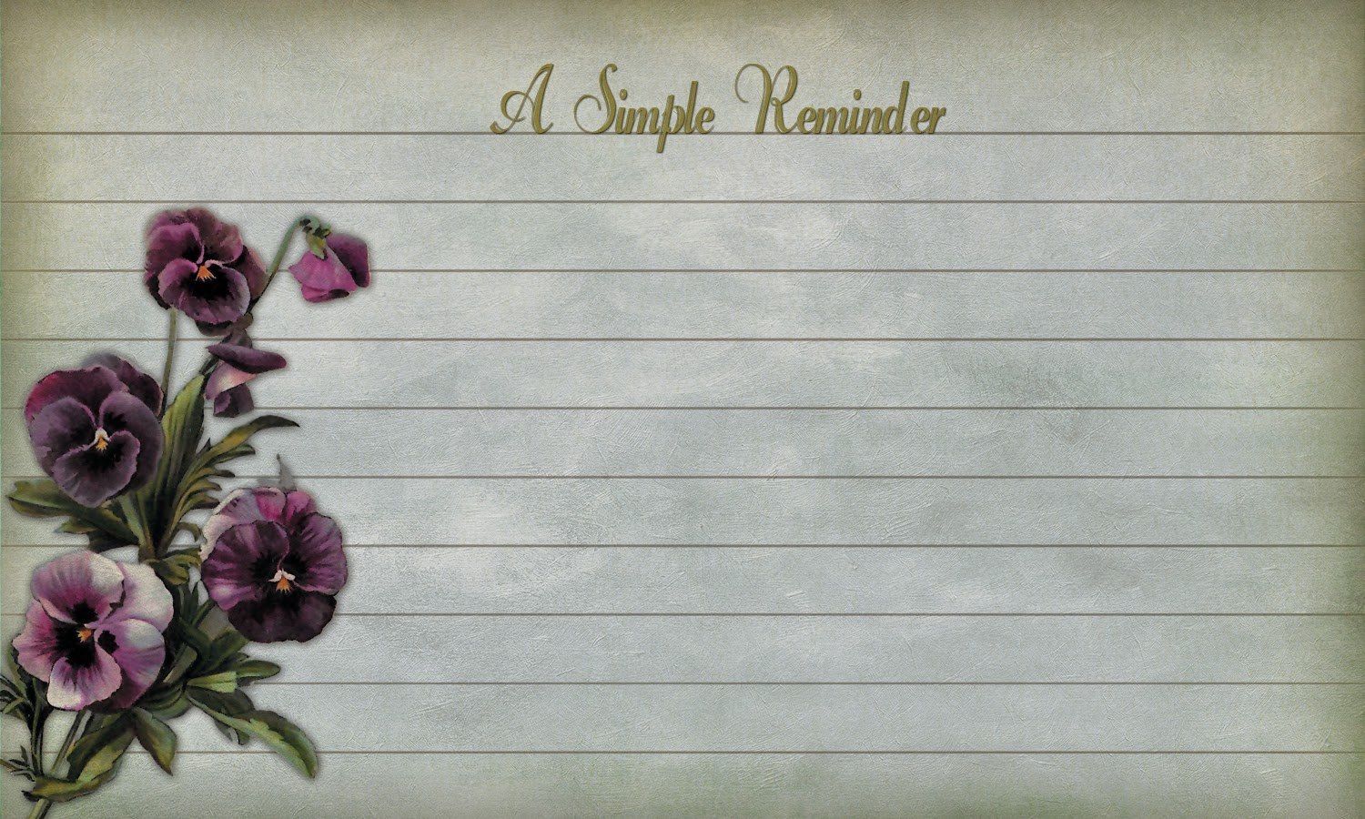 free printable Victorian reminder note