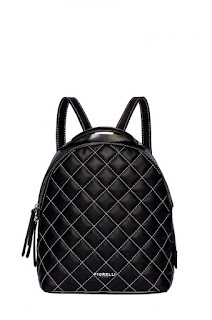 Fiorelli - Rucsac de firma modern de femei, negru cu model