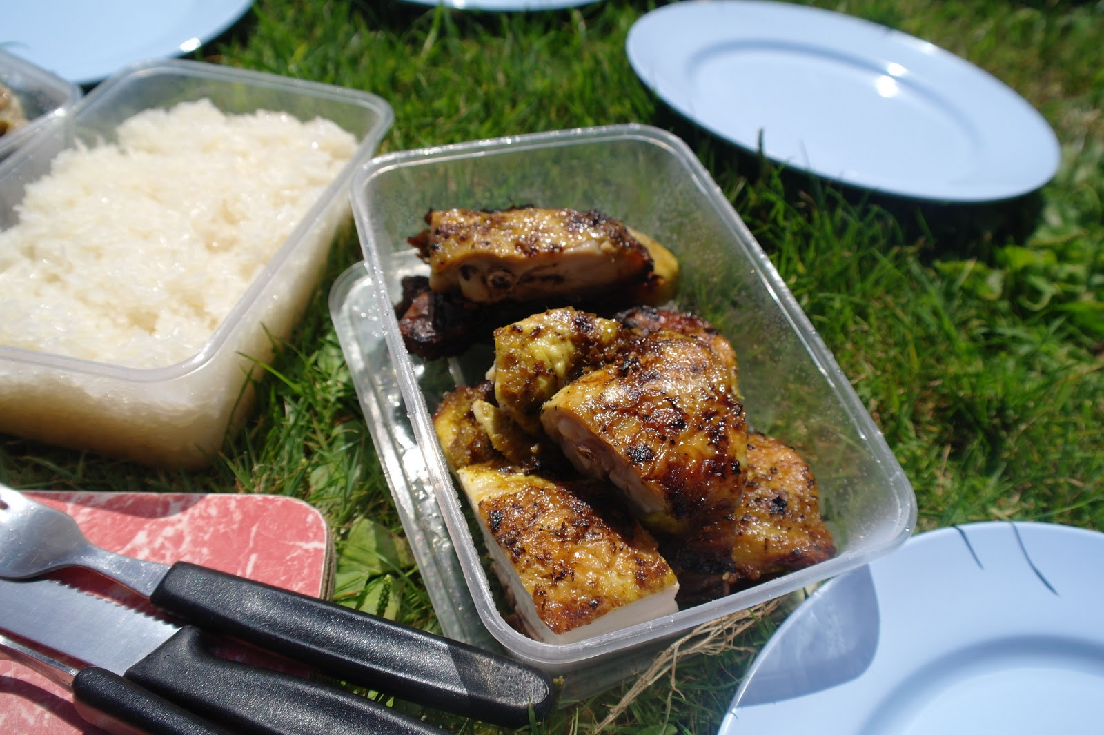 krapow: Thai Grilled Chicken (Gai Yang) with Sticky Rice