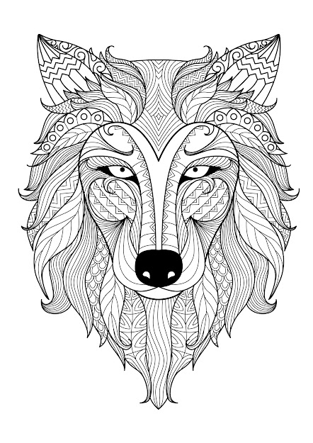 Incredible Adult Coloring Page Of Wolf From The Gallery  Animals  Artist