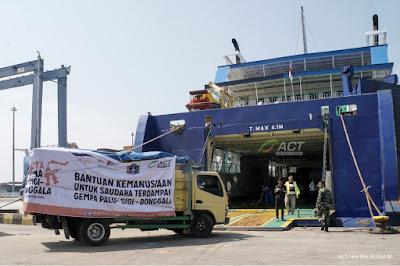 Bantuan Pangan dan Logistik ACT Berlayar Menuju Palu