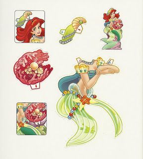 Ariel the Little Mermaid printable paper dolls filmprincesses.blogspot.com