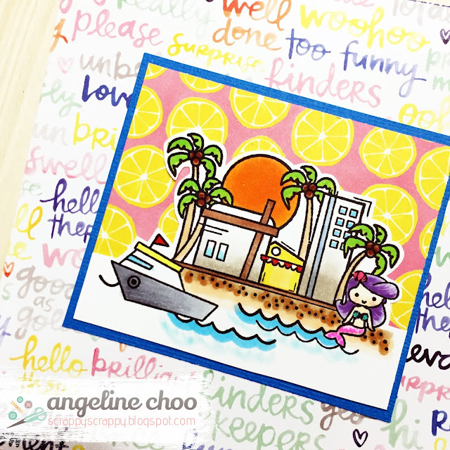 ScrappyScrappy: August NEW Release with Sweet Stamp Shop - Florida #scrappyscrappy #sweetstampshop #card #cardmaking #stamp #stamping #coloring #copic #florida #papercraft