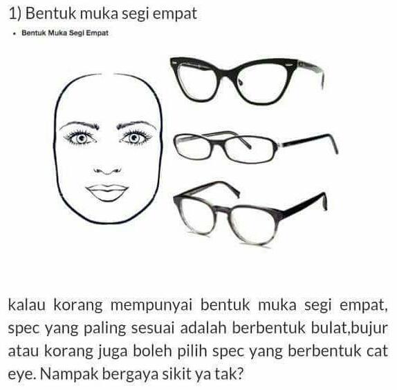 WW | Tips Pilih Cermin Mata Ikut Bentuk Muka!