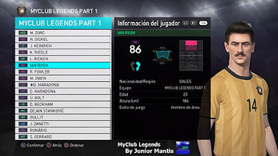 PES 2018 PS4 MyClub Legends Offline by Junior Mantis