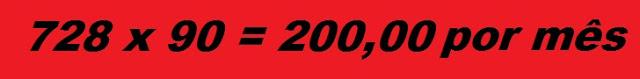 Banner na medida 728 x 90 pixel