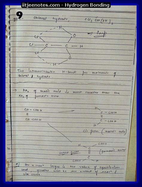 hydrogen bonding9