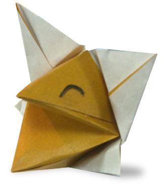 how to origami fox origami fox puppet tutorial origami handmade ... | 369x331