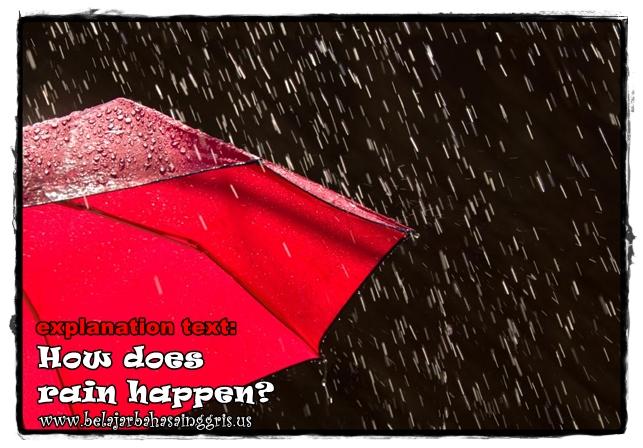Contoh Explanation Text tentang Bagaimana Hujan Terjadi | www.belajarbahasainggris.us