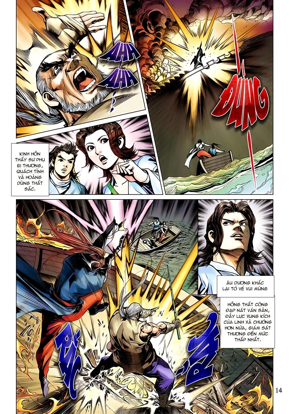 Anh Hùng Xạ Điêu anh hùng xạ đêu chap 53: lâm nguy thụ mệnh đả cẩu học pháp trang 15
