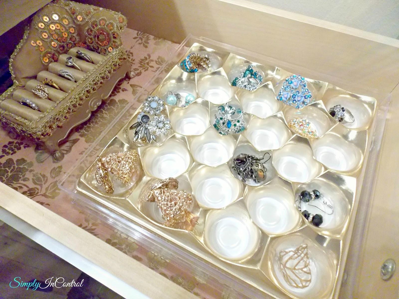 Simply in Control Organize Jewelry Using Ferrero Rocher Box