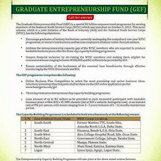 nysc gef and boi fund