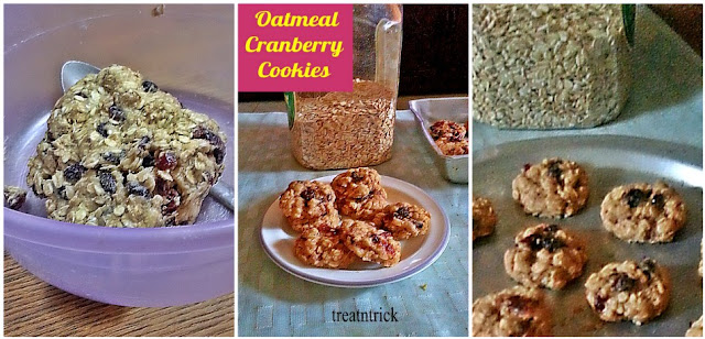 Oatmeal Cranberry Cookies Recipe @ treatntrick.blogspot.com
