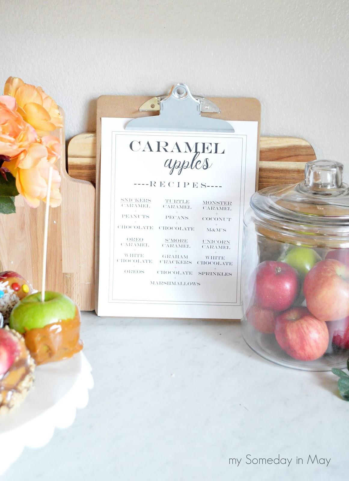 Caramel Apple Recipes Printable