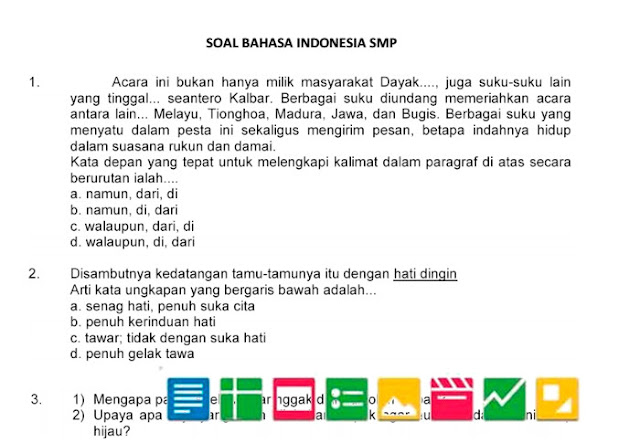 Download Soal Try Out UN SMP Tahun 2016