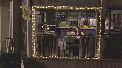 Lorelai y Rory en el diner de Luke