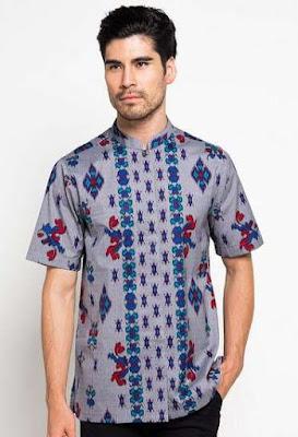 Desain Baju Batik Remaja Pria Lengan Pendek