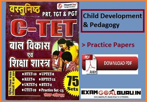 Child Development and Pedagogy Question Papers in Hindi PDF