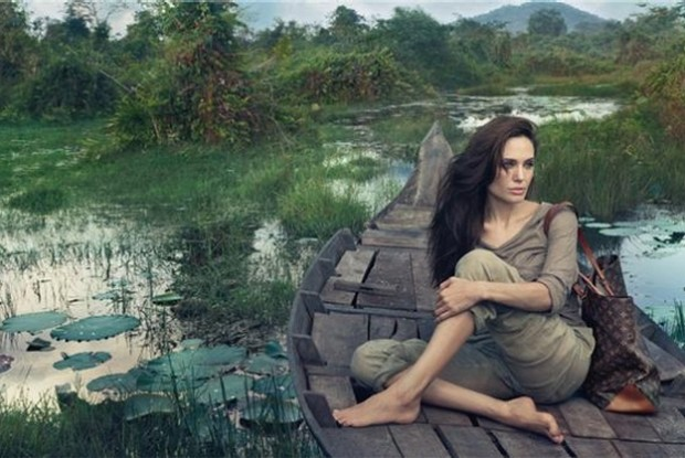 "Angelina Jolie for Louis Vuitton ""Core Values"" ad campaign"