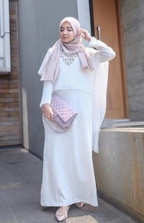 Contoh Baju Muslim Warna Pastel Model Casual Dan Syar'i