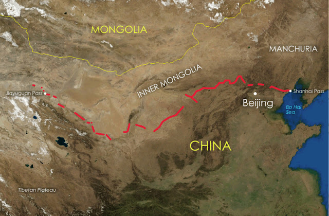 facts about building the great wall of china