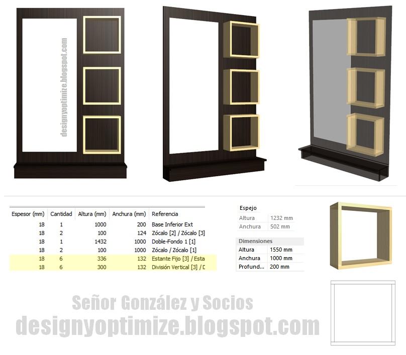 Diseño De Muebles Madera Crear Marco Para Espejo Con Repisas
