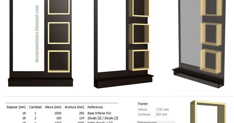 bao espejos de bao con marco de madera
