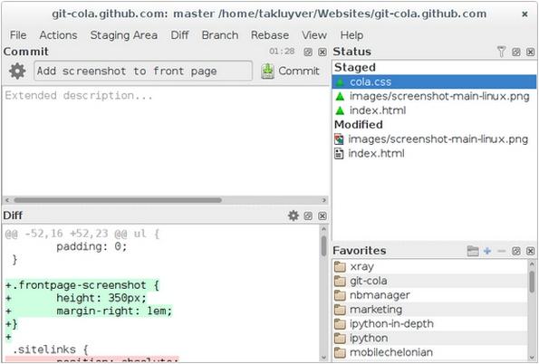 git-cola Git client