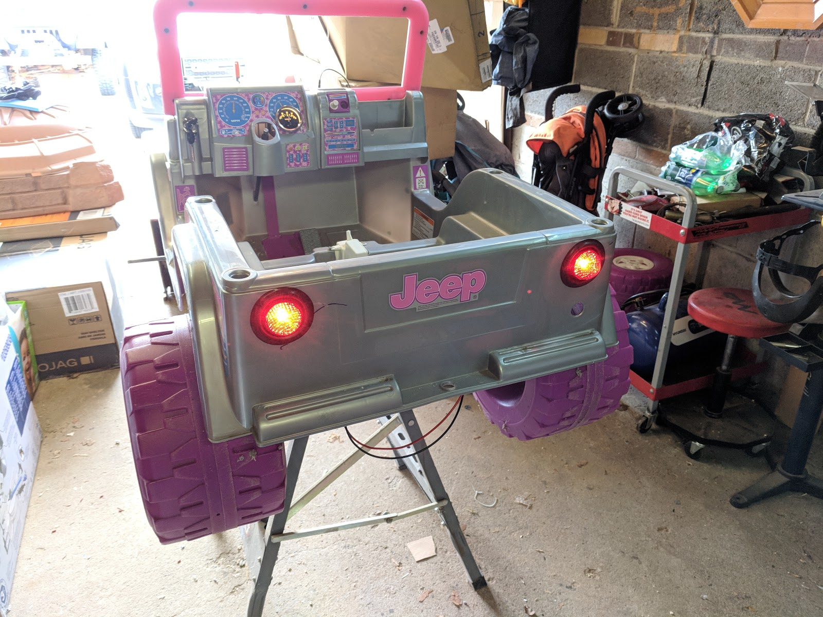 The Jeep Garage Nates Status Update Power Wheels Wiring Harness Ive Built A Full For This It Has Working Ignition Key Fuse Panel All Routes Through Relay Voltmeter In Dash