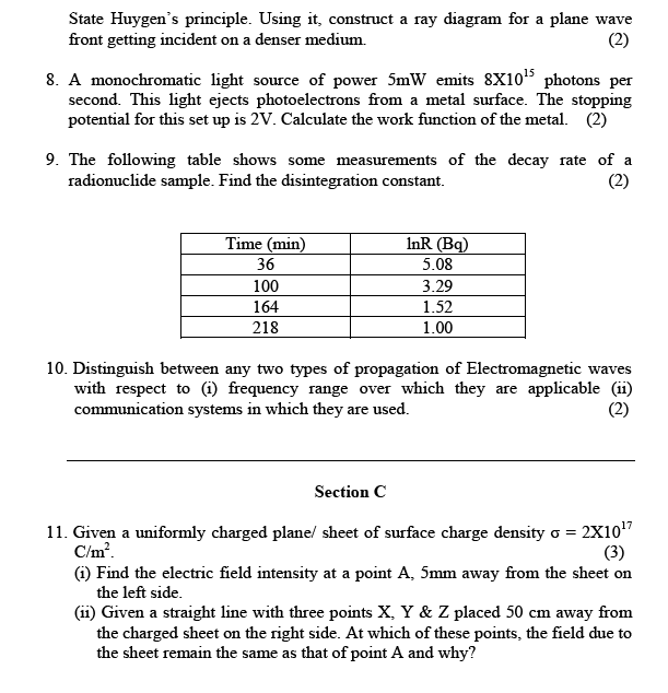 CBSE Sample paper class 12 Physics ~ SCC Education