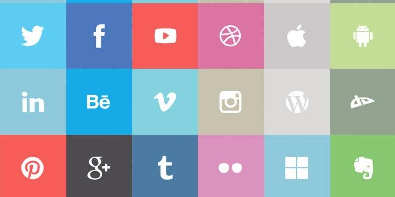 Flat Metro Style Social Icons
