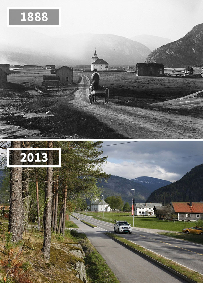20 Amazing Before And After Photographs Depict How The World Has Changed Overtime