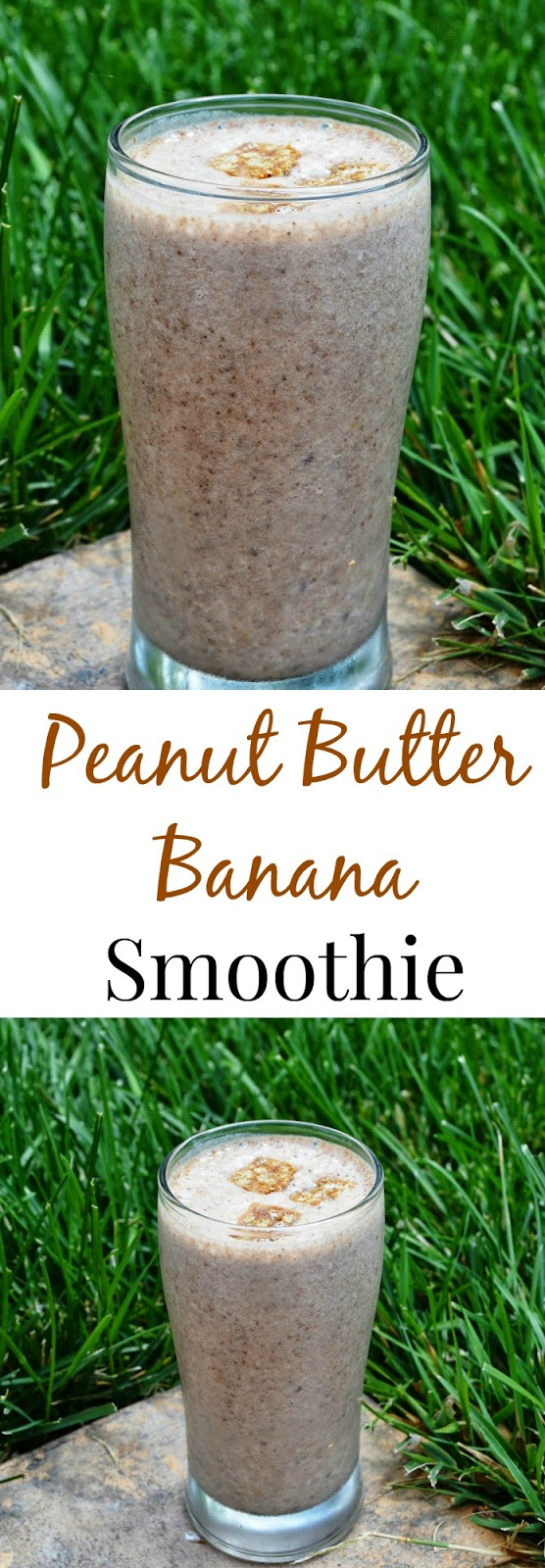 This Peanut Butter Banana Smoothie is so simple with only 3 ingredients. It is filling and tastes like dessert but is actually quite healthy! www.nutritionistreviews.com