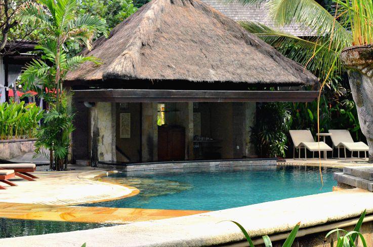 Legian beach hotel, bali, Indonesia, poolside