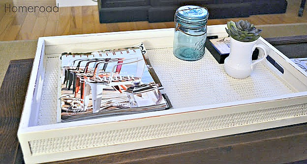 DIY Woven Nautical Tray. Homeroad.net