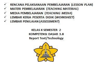 Download RPP Report Text Kd. 3.8 Lengkap dengan Materi Pembelajaran, Media Pembelajaran, LKPD dan Penilaian RPP, RPP SMA