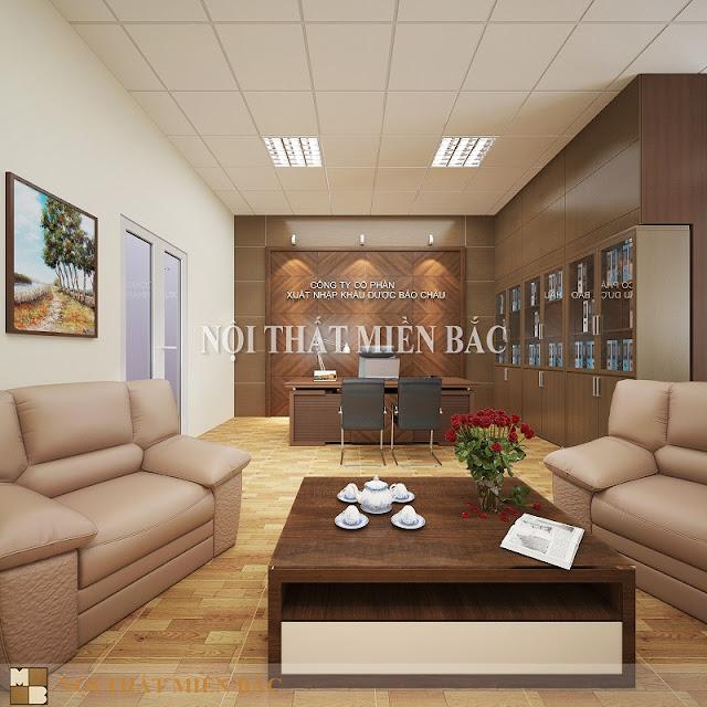Thiết kế nội thất phòng giám đốc cao cấp - H1