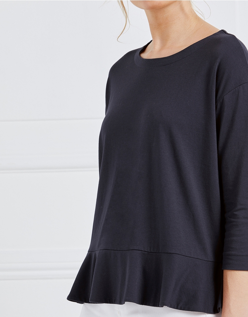 The White Company Circle Frill Hem Top