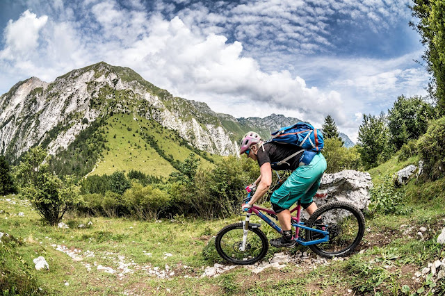 Singletrail MTB Abfahrt Udine Venzone Mt. Cuarnan