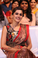 Tapsee Pannu Latest Stills in Red Silk Saree at Anando hma Pre Release Event .COM 0080.JPG