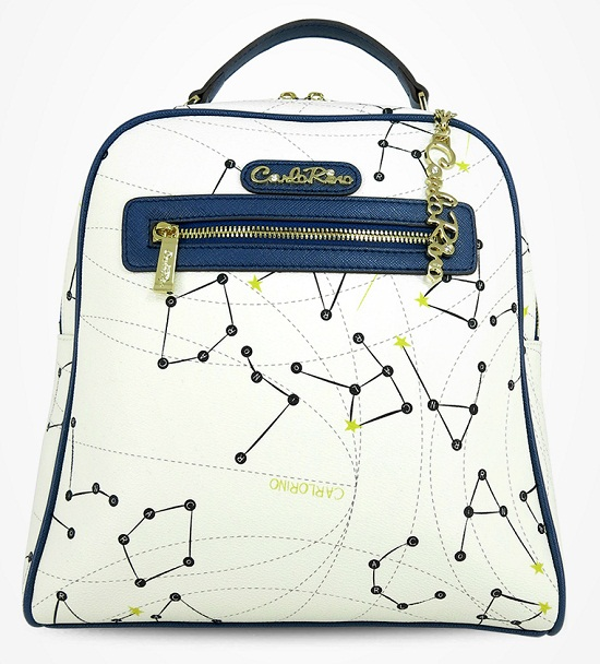 Carlo Rino Signature Print Backpack