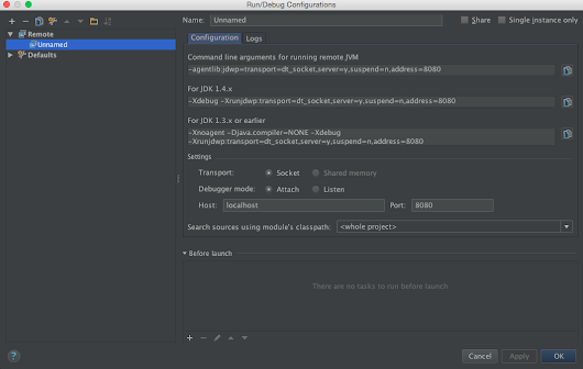 Debug Web application in tomcat with Intellij Idea