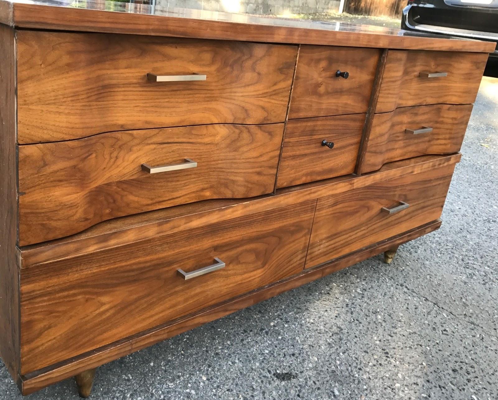 Circa Modern: Mid Century Walnut Dresser SOLD