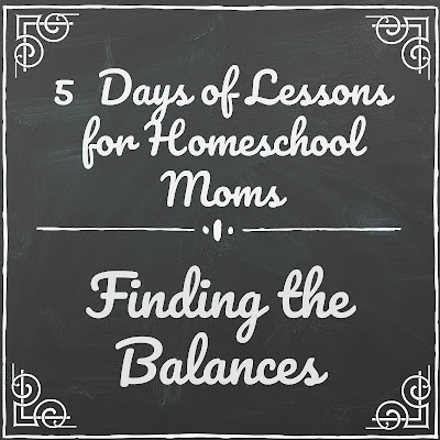 Lessons About Finding the Balances (5 Days of Lessons for Homeschool Moms) on Homeschool Coffee Break @ kympossibleblog.blogspot.com - part of the 2018 5 Days of Homeschool Blog Hop hosted by the Homeschool Review Crew @ homeschoolreviewcrew.com