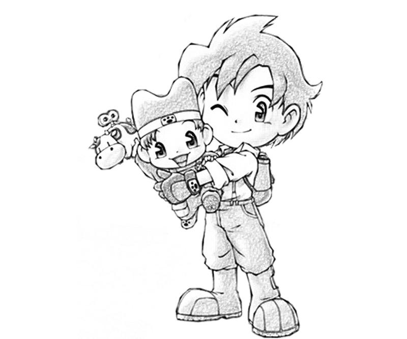gamecube harvest moon coloring pages - photo #17