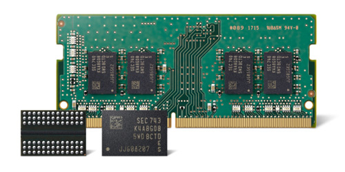 10 Nanometer Class 8- gigabit DDR4 RAM