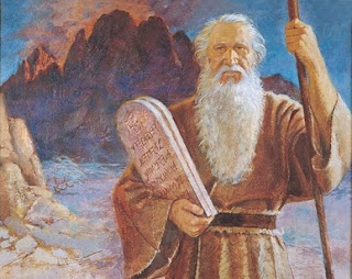 Moses with tablets