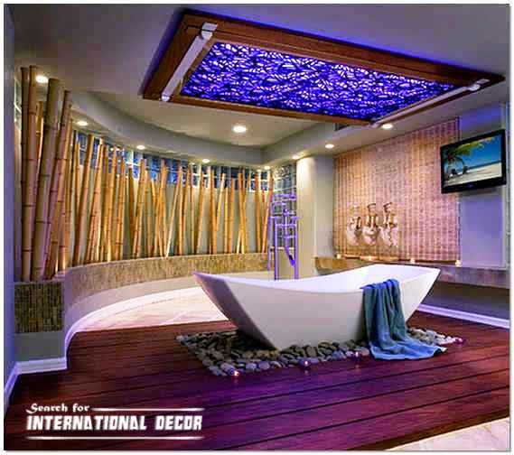 modern bathroom with ceiling interior design