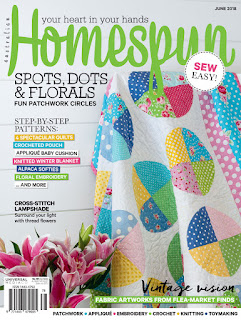 Front cover of Homespun Australia, June 2018
