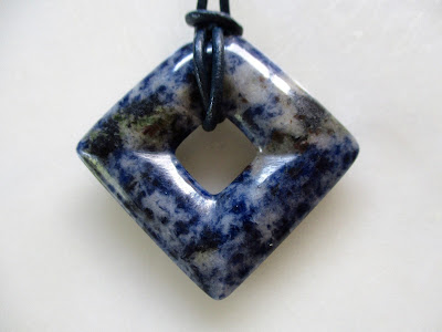 Blue Granite Stone Pendant